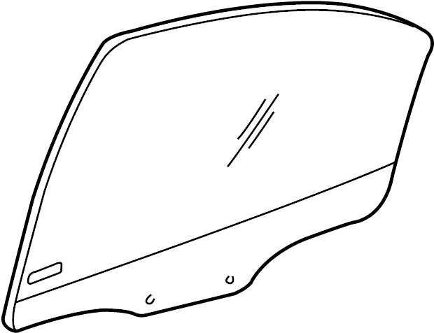 Dodge Neon Door Glass. Chrysler. REAR, Left, FCA, Body