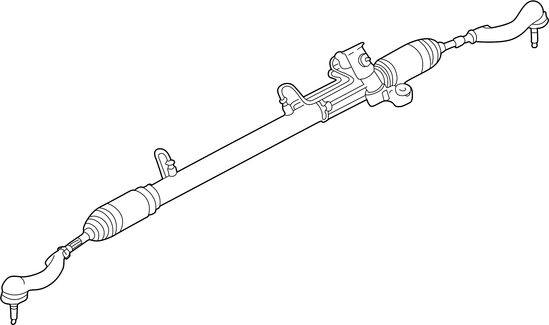 Chrysler Sebring Rack and Pinion Assembly. Steering, Gear