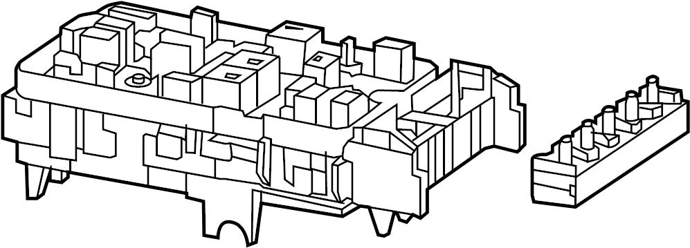Chrysler 200 Fuse Box. 2.4 liter, w/auto stop-go