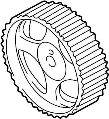 Chrysler Sebring Engine Timing Camshaft Sprocket. LITER