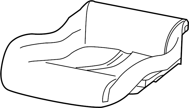 Dodge Viper Seat Cover (Front). Manual seat, red