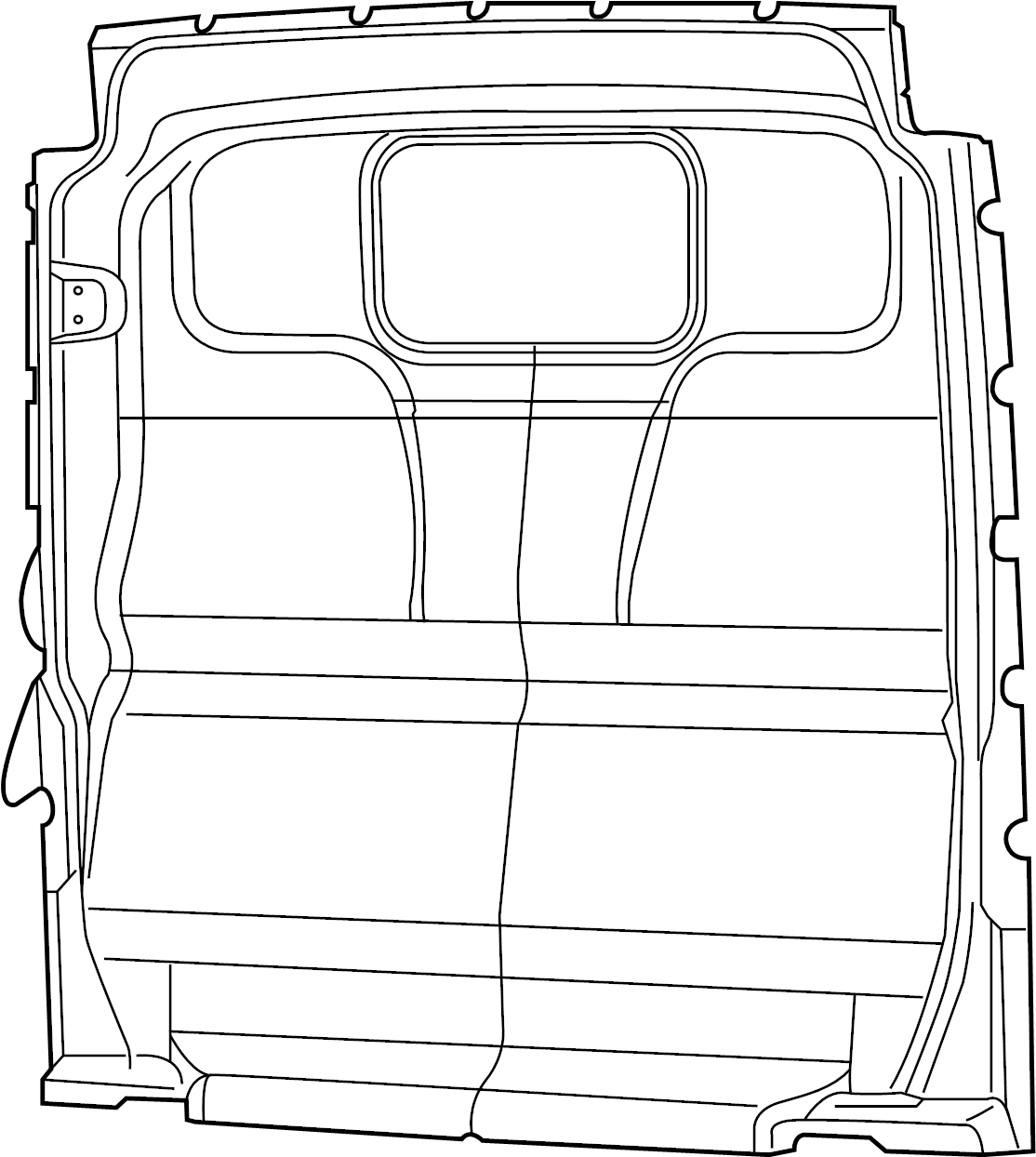 Ram Promaster Partition Panel W O Window Rocker