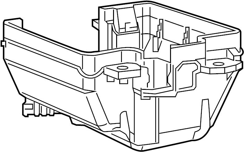 Ram ProMaster City Fuse and Relay Center Bracket. ENGINE