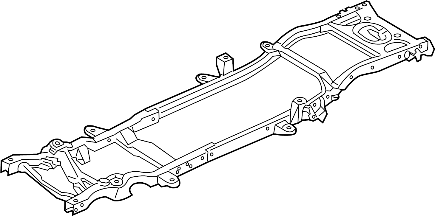 Dodge Dakota Frame Rail. 2WD, 131 auto trans. 2WD, 131