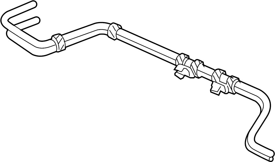 Dodge Dakota Vacuum Line. 2.5 LITER, rear, all. 3.9, 4.7
