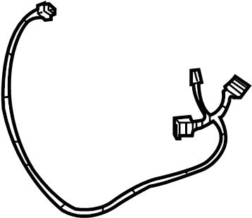 Dodge Durango Wire harness. Included with: Entertainment