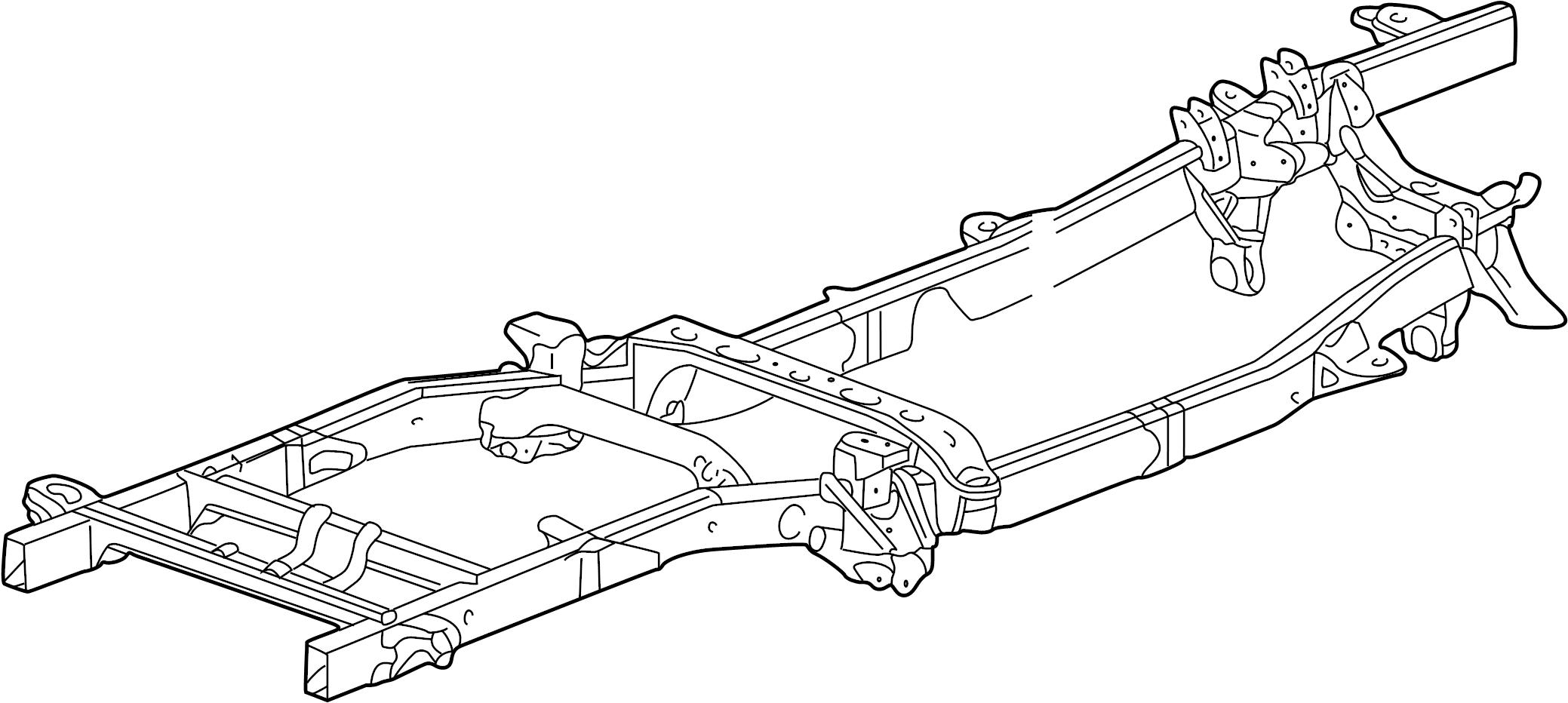 Dodge Ram 2500 Frame Rail. 2003-05, FRAME & CROSSMEMBERS