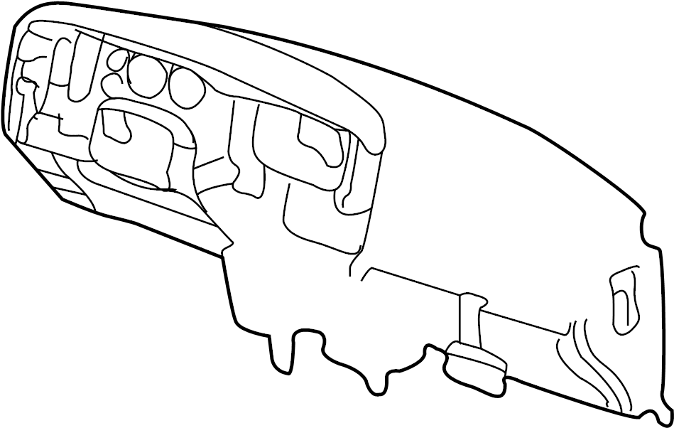 Dodge Ram 1500 Dashboard Panel. I/PANEL. INSTRUMENT PANEL