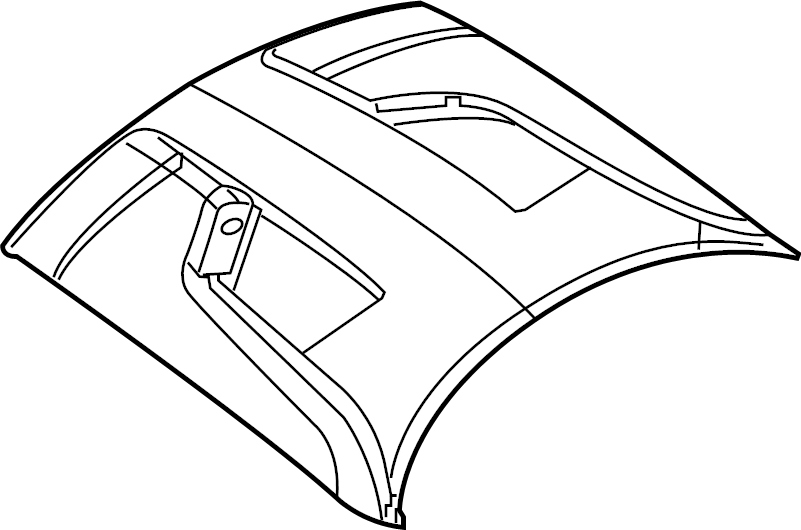 Dodge Challenger Hood Panel. 2015-20, DUAL INTAKE VENT