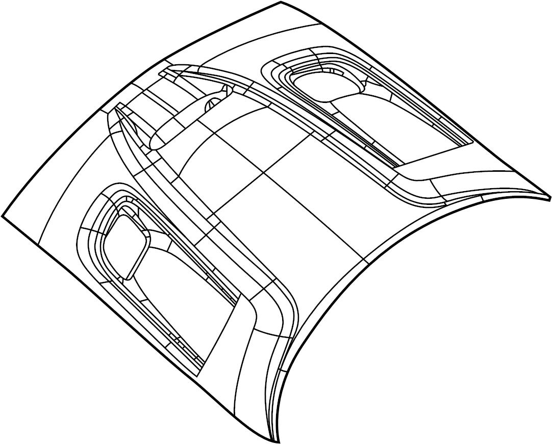 Dodge Challenger Hood Panel. 2015-20, CENTER INTAKE VENT