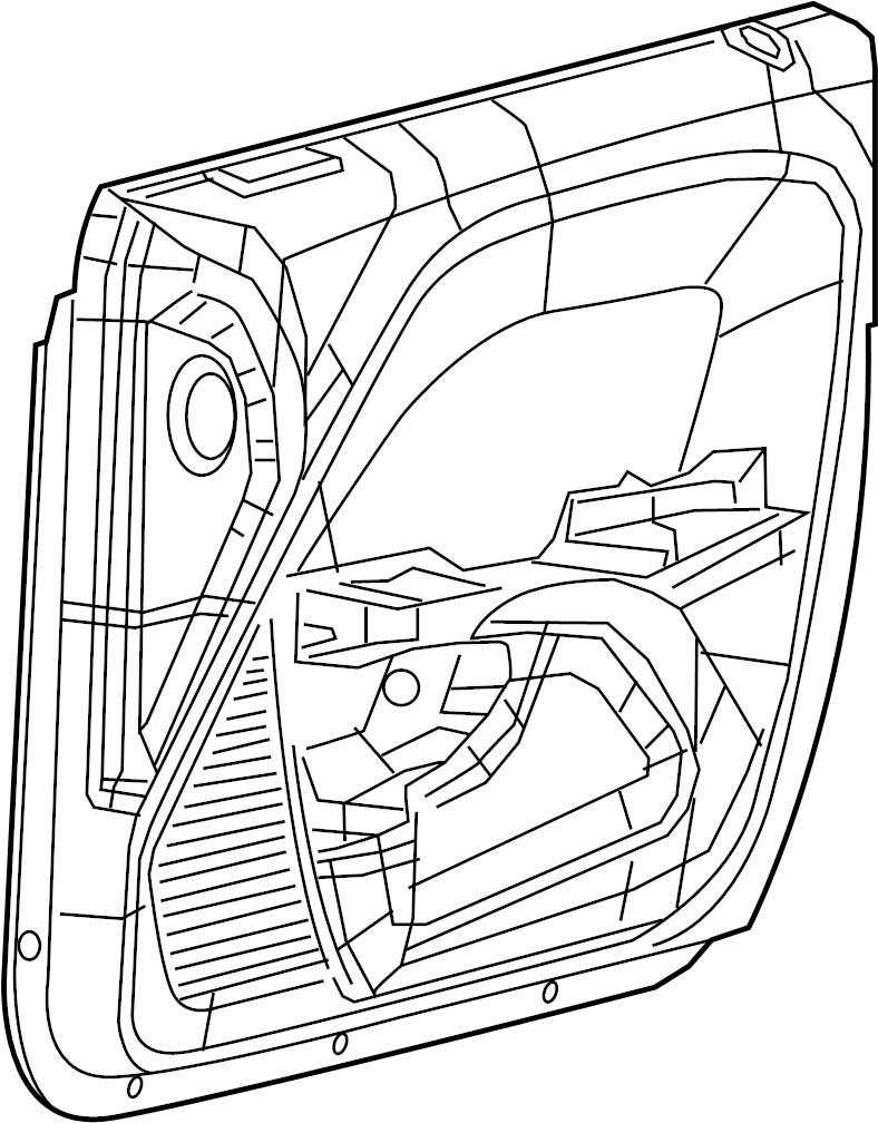 Dodge Challenger Door Interior Trim Panel. Left, Black