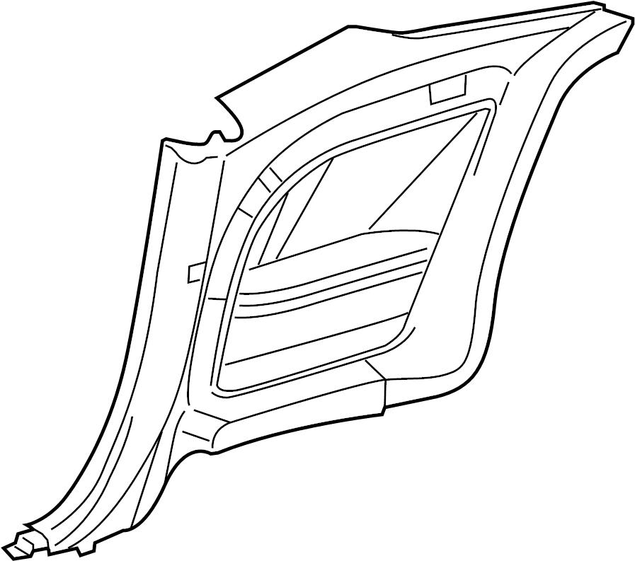 Dodge Challenger Interior Quarter Panel Trim Panel. Base
