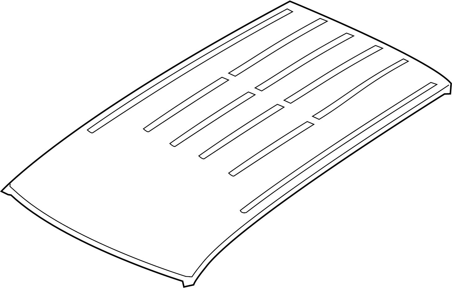 Jeep Grand Cherokee Roof Panel. DUAL SUNROOF. W/sunroof