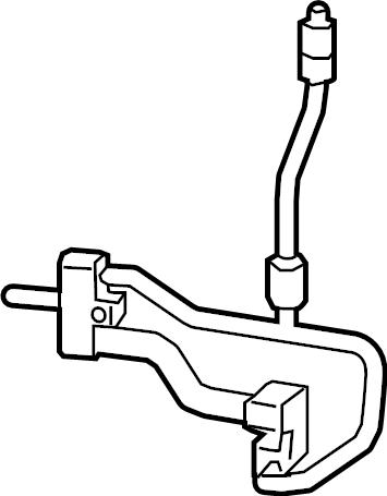 Jeep Cherokee A/c refrigerant discharge hose. Line