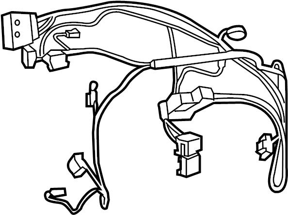 Jeep Cherokee Hvac system wiring harness. 3.2 liter