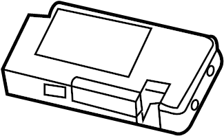 Jeep Patriot Gps navigation control module. Code: rsq