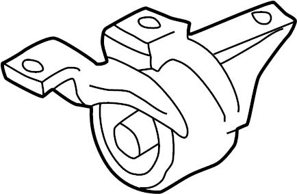 Dodge NITRO Automatic Transmission Mount. ENGINE, Replace