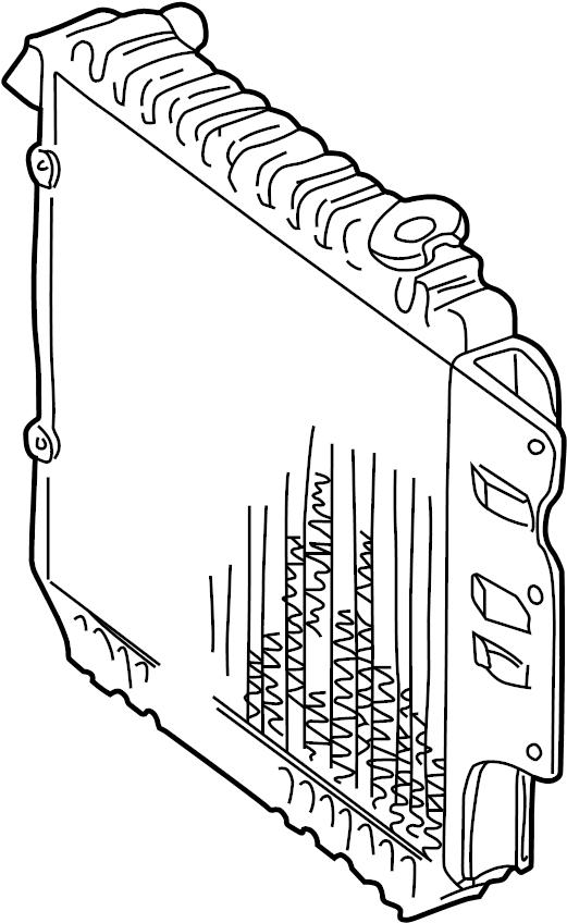 Jeep Wrangler Radiator. ENGINE COOLING. Radiator
