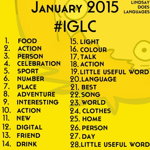 #IGLC Instagram Language Challenge January 2015 lindsay does languages blog