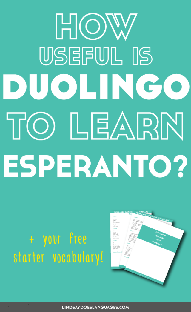 So, just how useful is Duolingo to learn Esperanto? With over 400k learners, Esperanto is growing. Click through to get your free starter vocabulary! >>