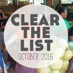 Language Learning Goals: Clear The List October 2016