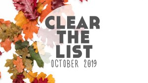 Language Learning Goals: #ClearTheList – October 2019