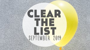 Language Learning Goals: #ClearTheList – September 2019