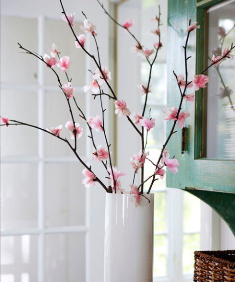 beautiful easter spring cherry blossoms centerpiece