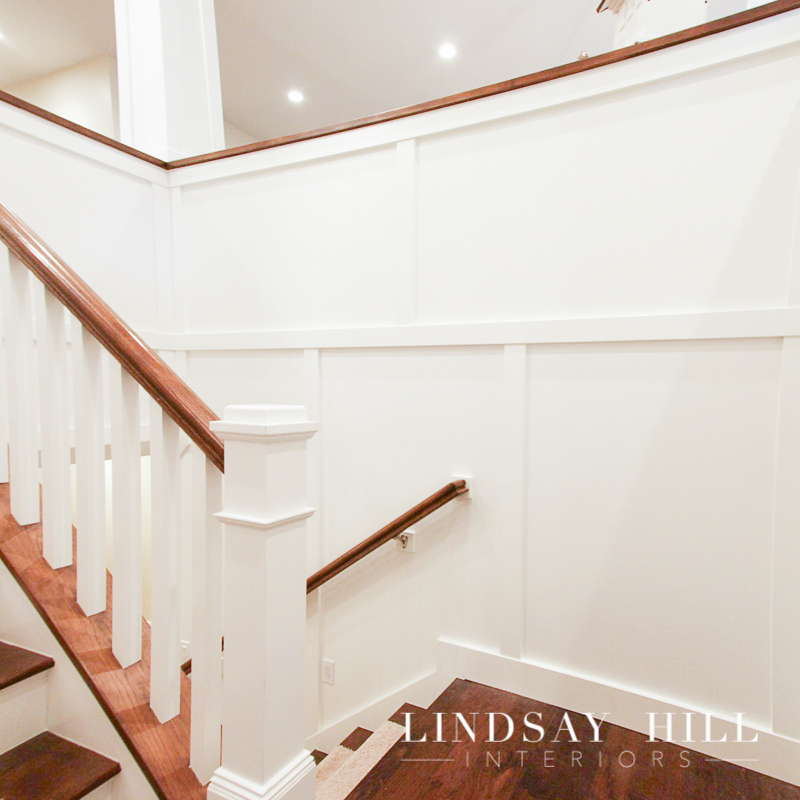 stairwell in craftsman style home