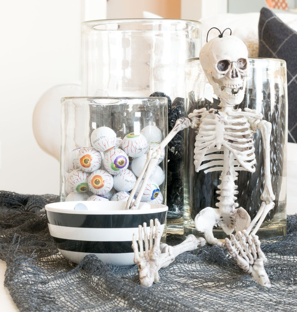 skeleton centerpiece