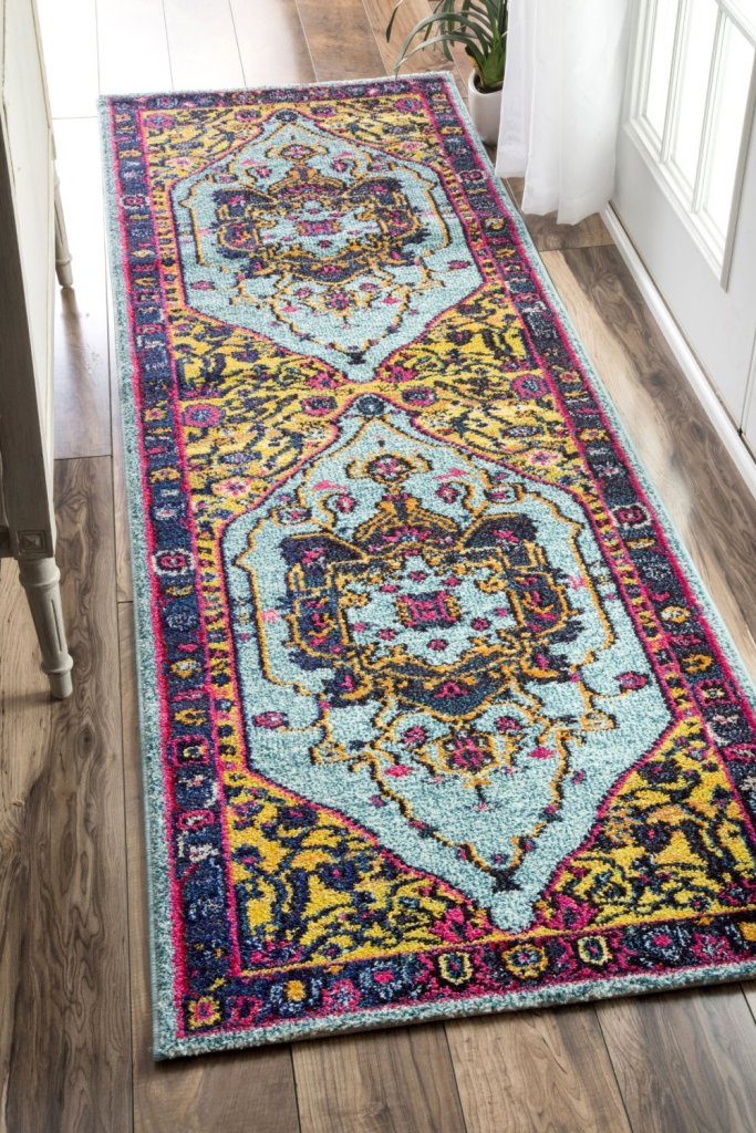 rugs usa kitchen runner oriental vintage distressed