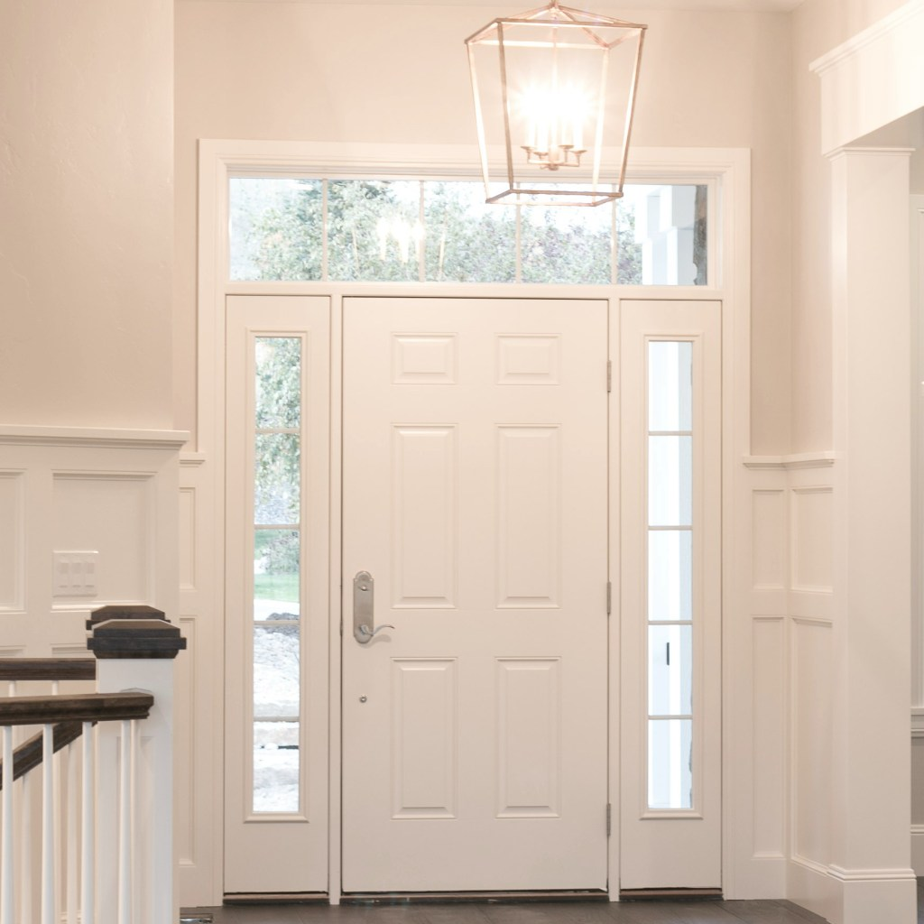 front door in classic mountain home