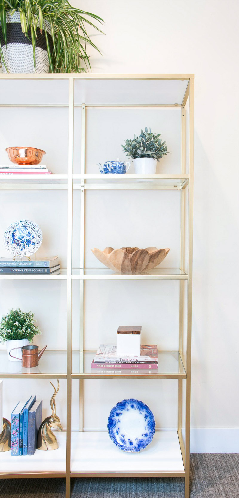 etagere in Lindsay Hill Interiors office space