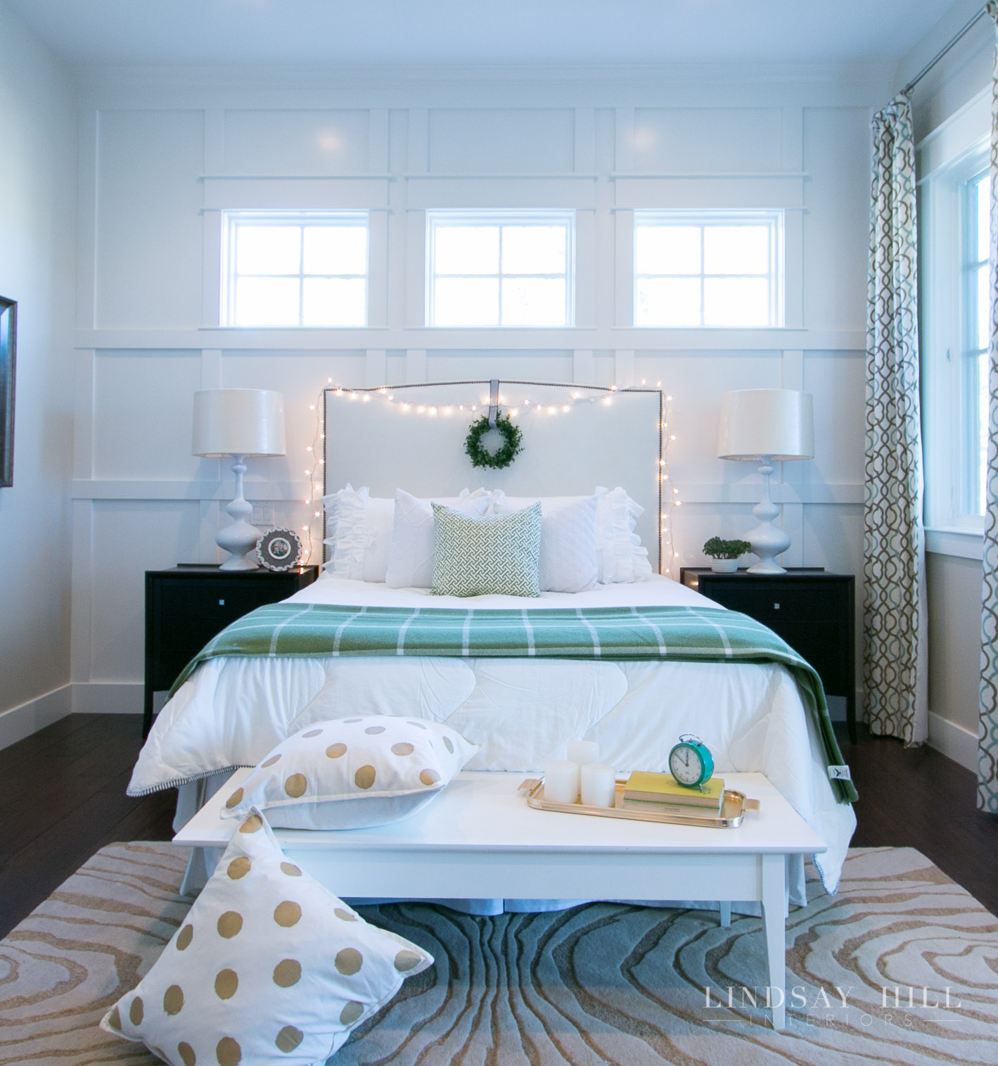 Lindsay Hill Interiors holiday home tour christmas master bedroom