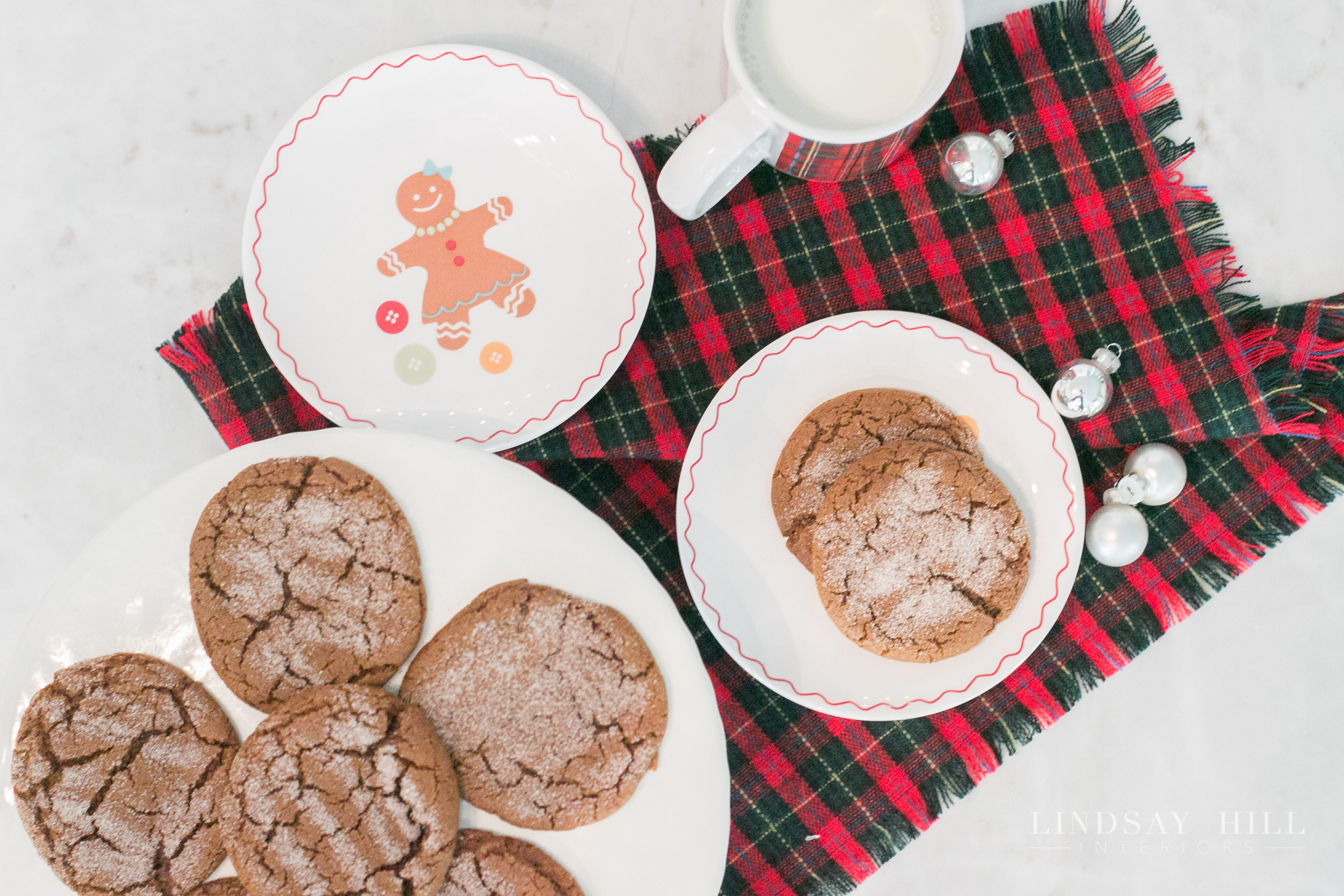 Lindsay Hill Interiors holiday home tour christmas molasses ginger cookies