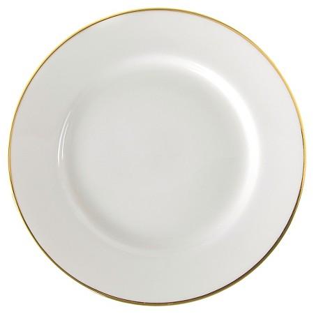 gold rimmed dinner plate
