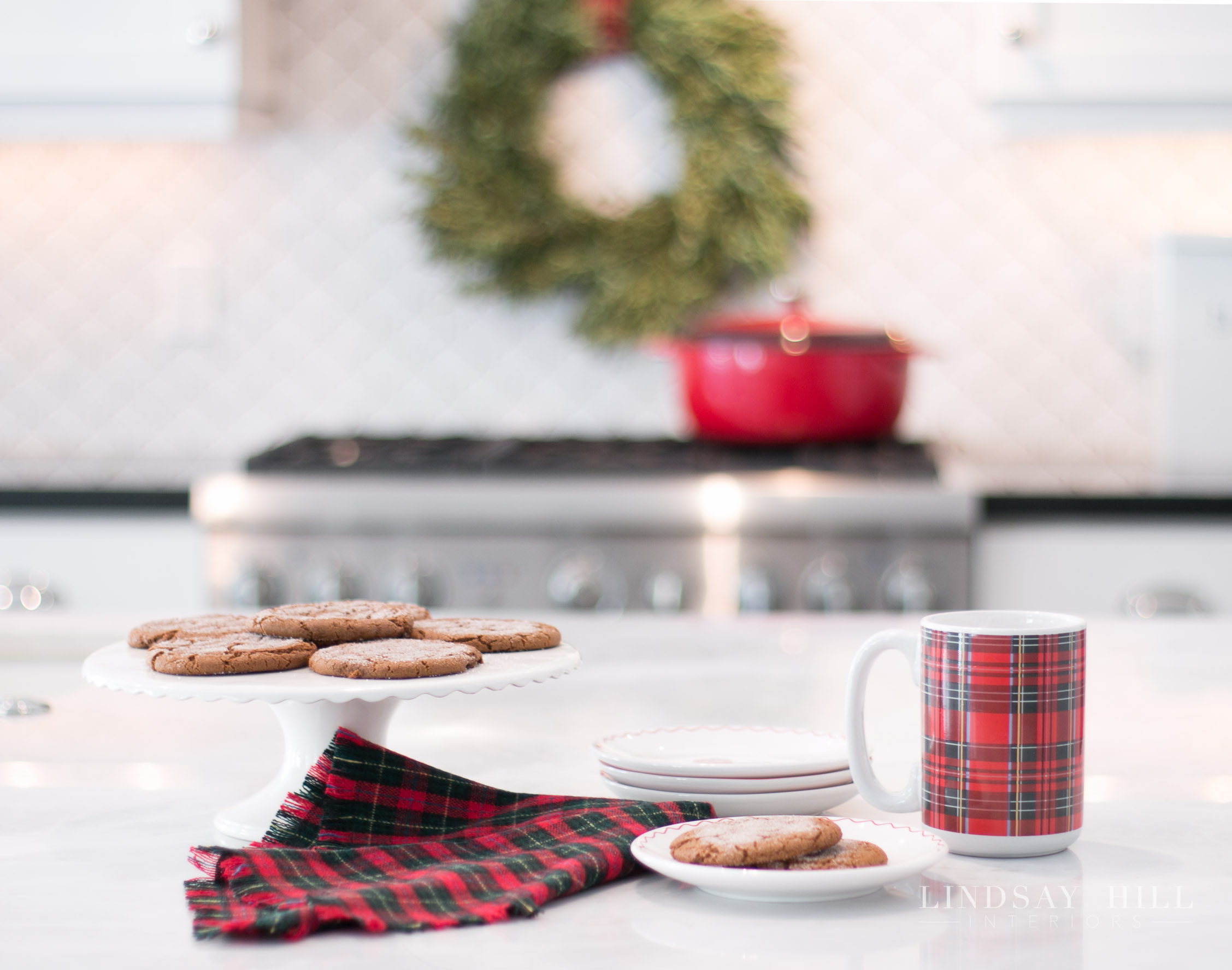 Lindsay Hill Interiors holiday home tour molasses ginger cookies