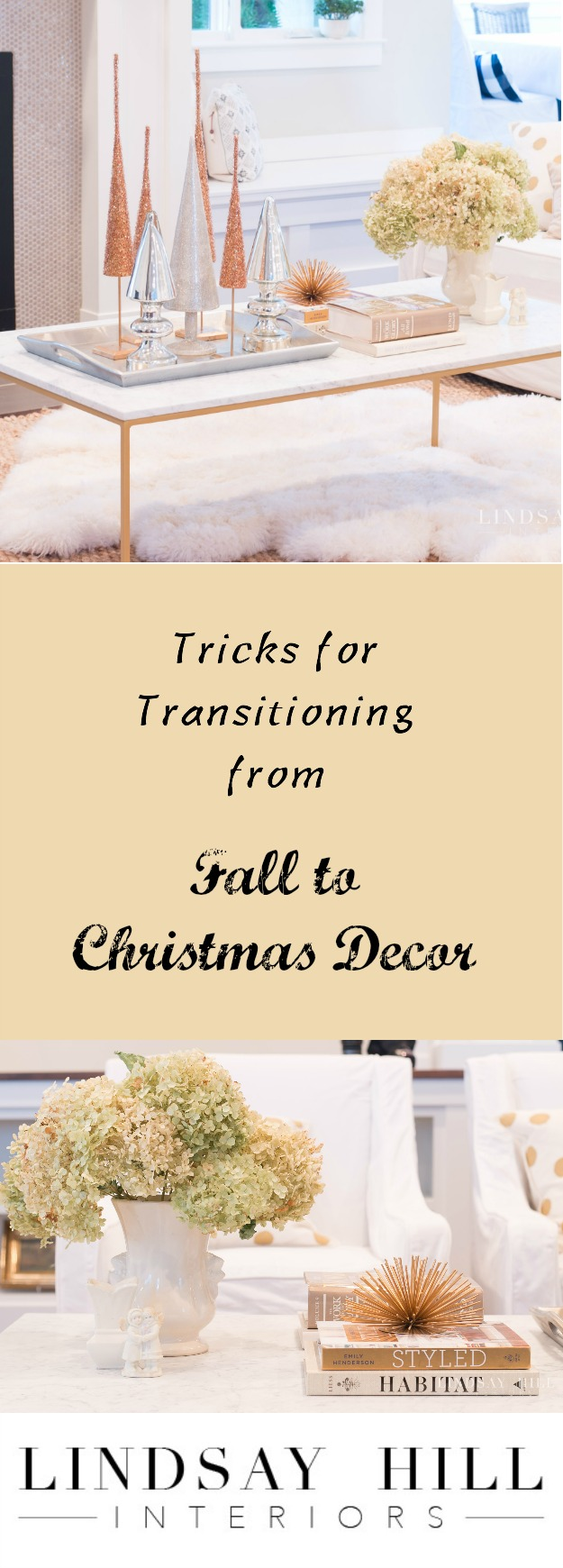 Tricks for transitioning from Fall to Christmas decor!