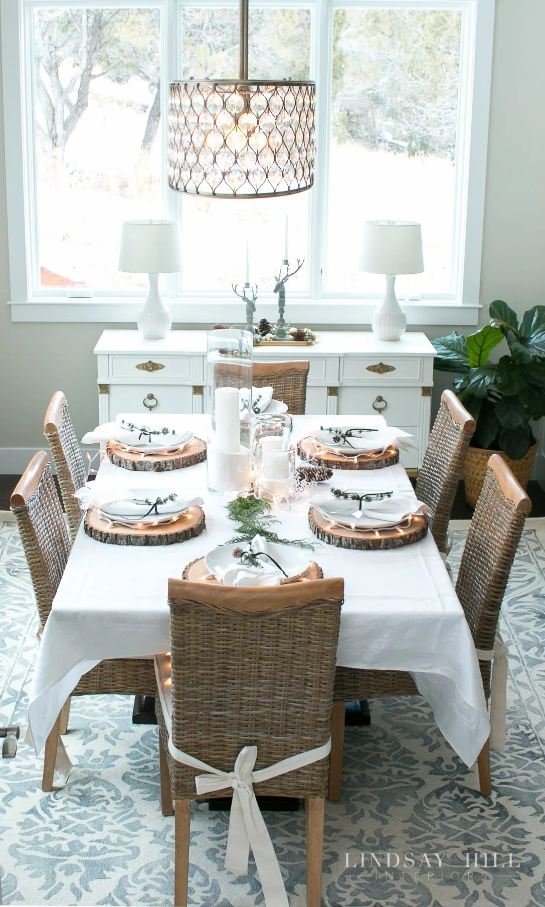 lindsay hill interiors holiday dining room table