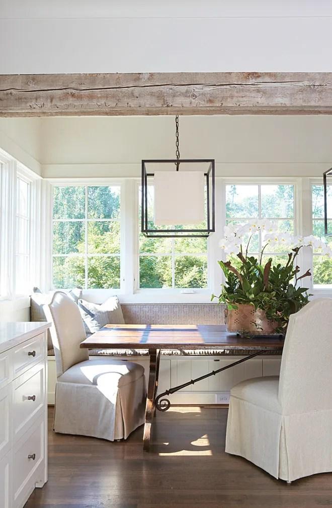 wood ceiling treatments beams Jan Ware dining room