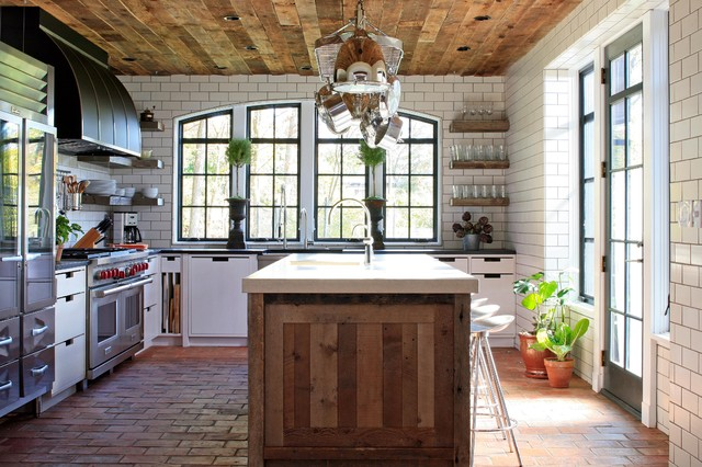 wood ceiling treatments tongue in groove european cottage kitchen