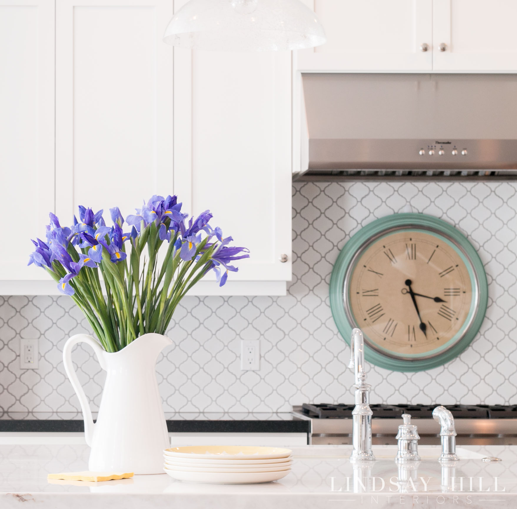 styled for spring home tour kitchen