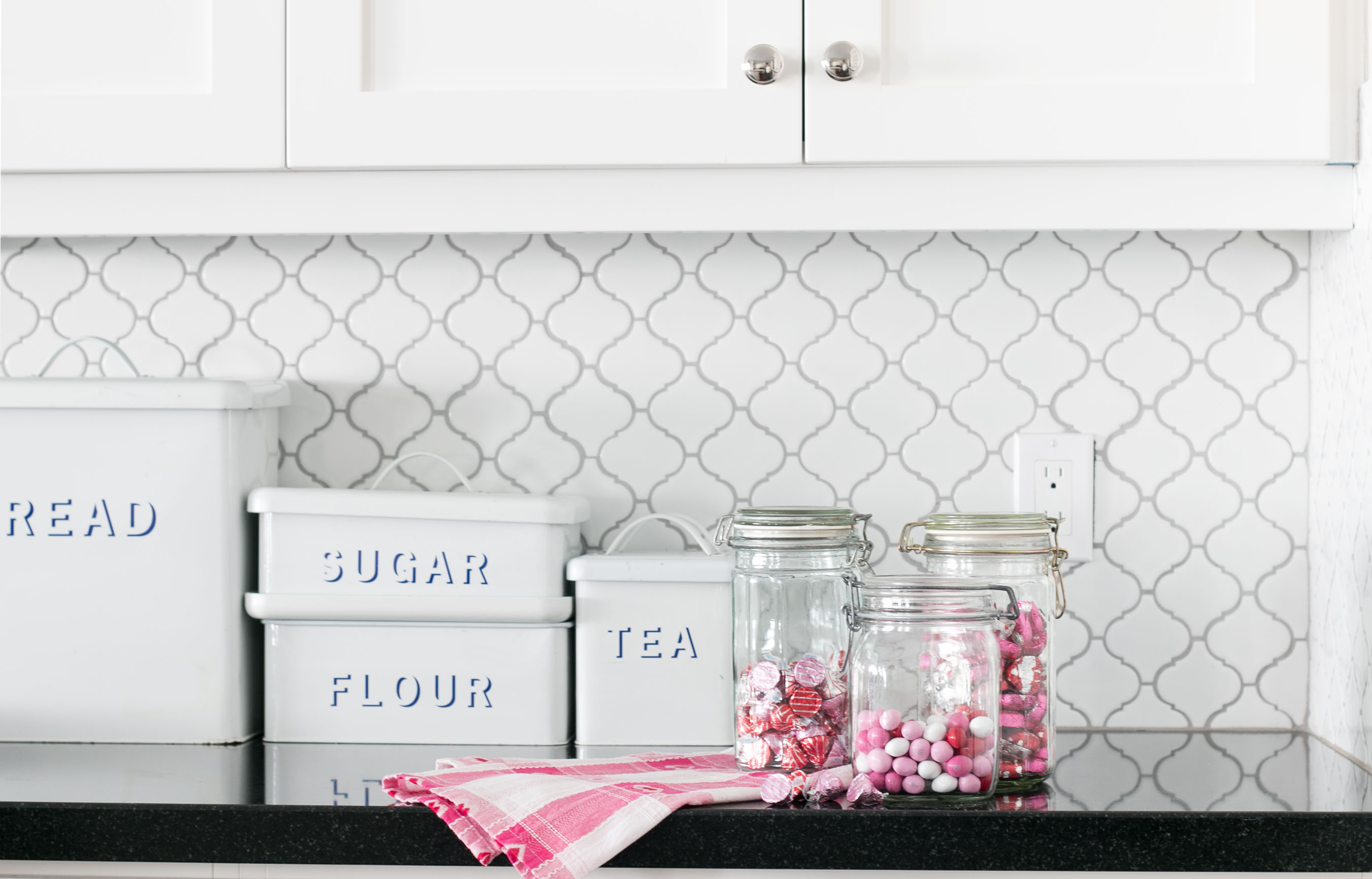 lindsay hill interiors simple valentine's day decor candy jars