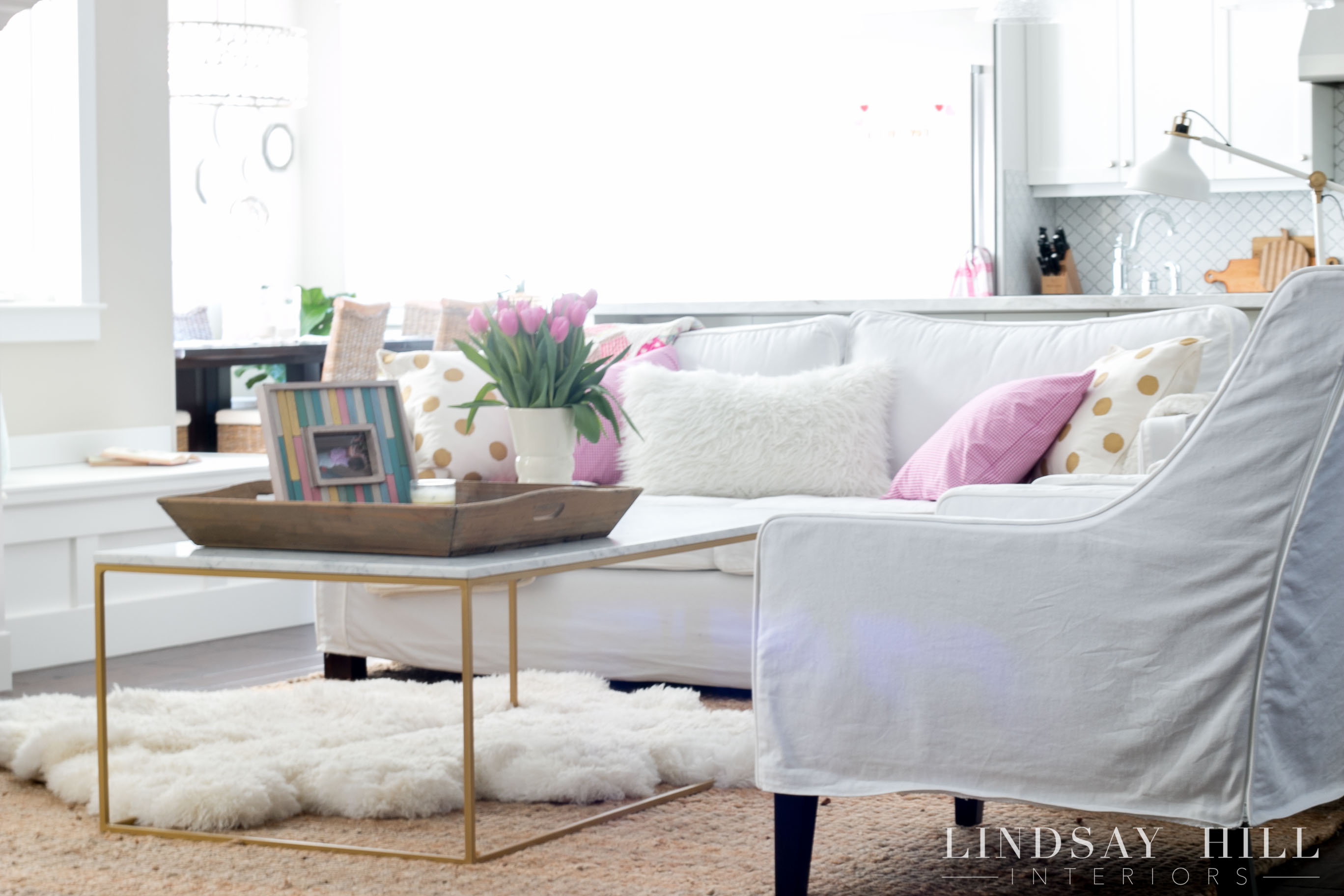 Lindsay Hill Interiors Simple Valentineu0027s Day Decor Living Room