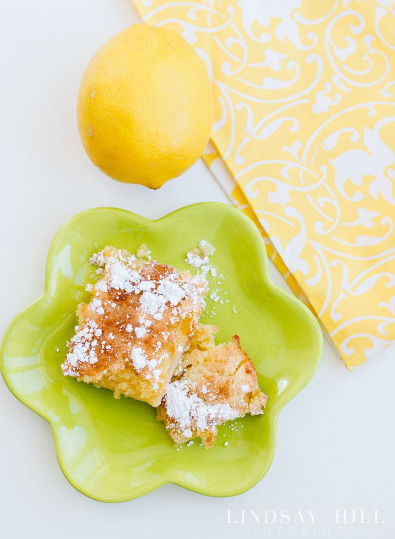 styled for spring home tour kitchen lemon bars