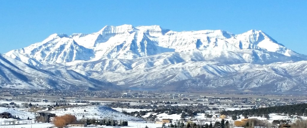 view of timpanogos mountain