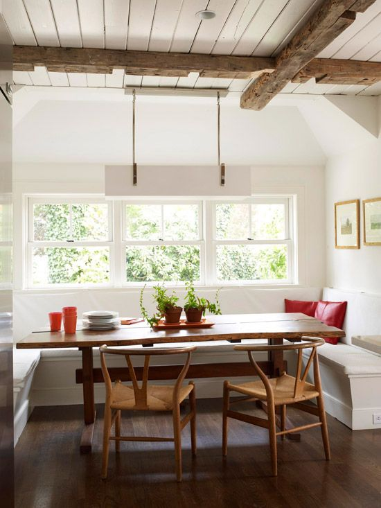 Dining Room Seating Banquette Or Upholstered Settee Lindsay Hill Interiors