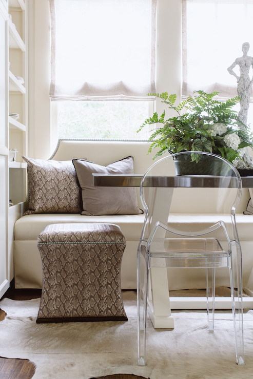 upholstered settee for dining room seating lindsay hill interiors