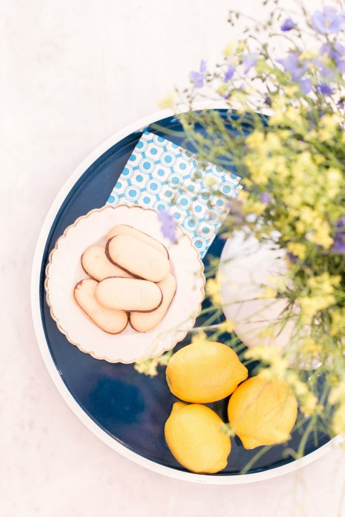 Lindsay Hill Interiors summer home tour kitchen tray