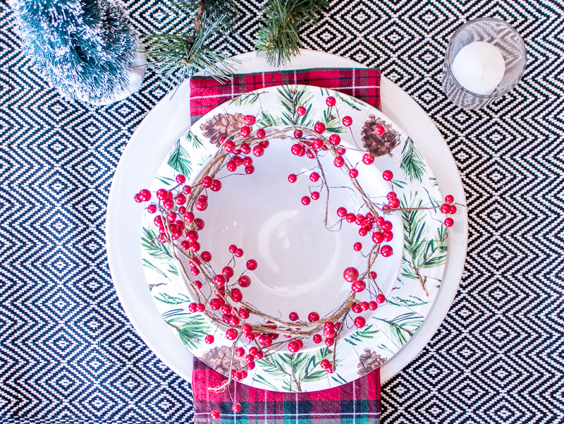 nature inspired christmas table